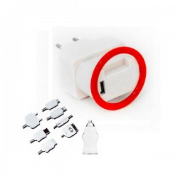 Universal Kit Holder Wall & Car 1A Charger Approx